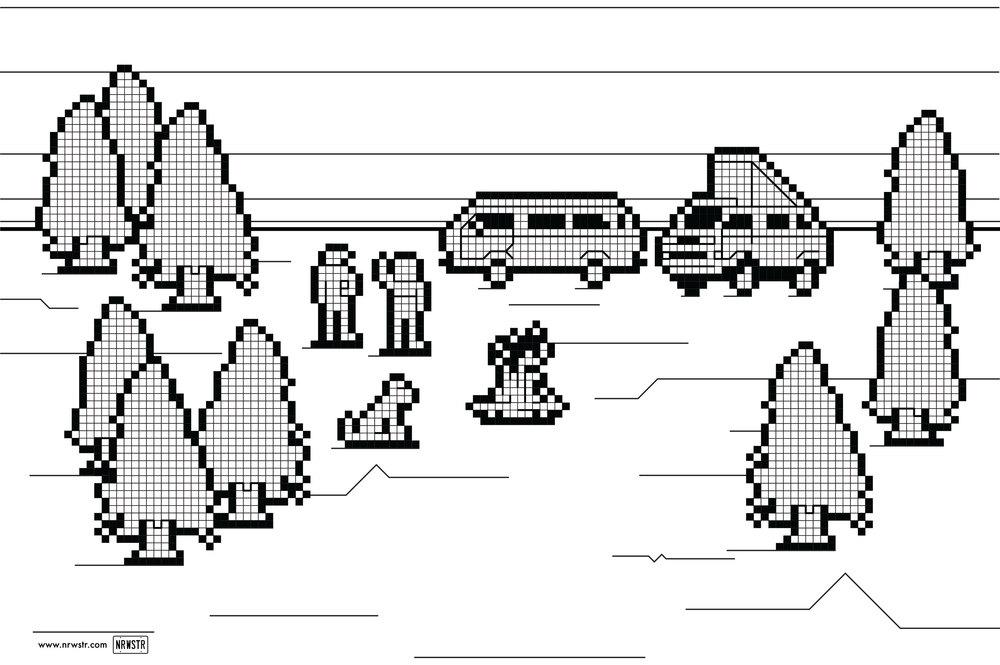 8-bit Vanagon scene