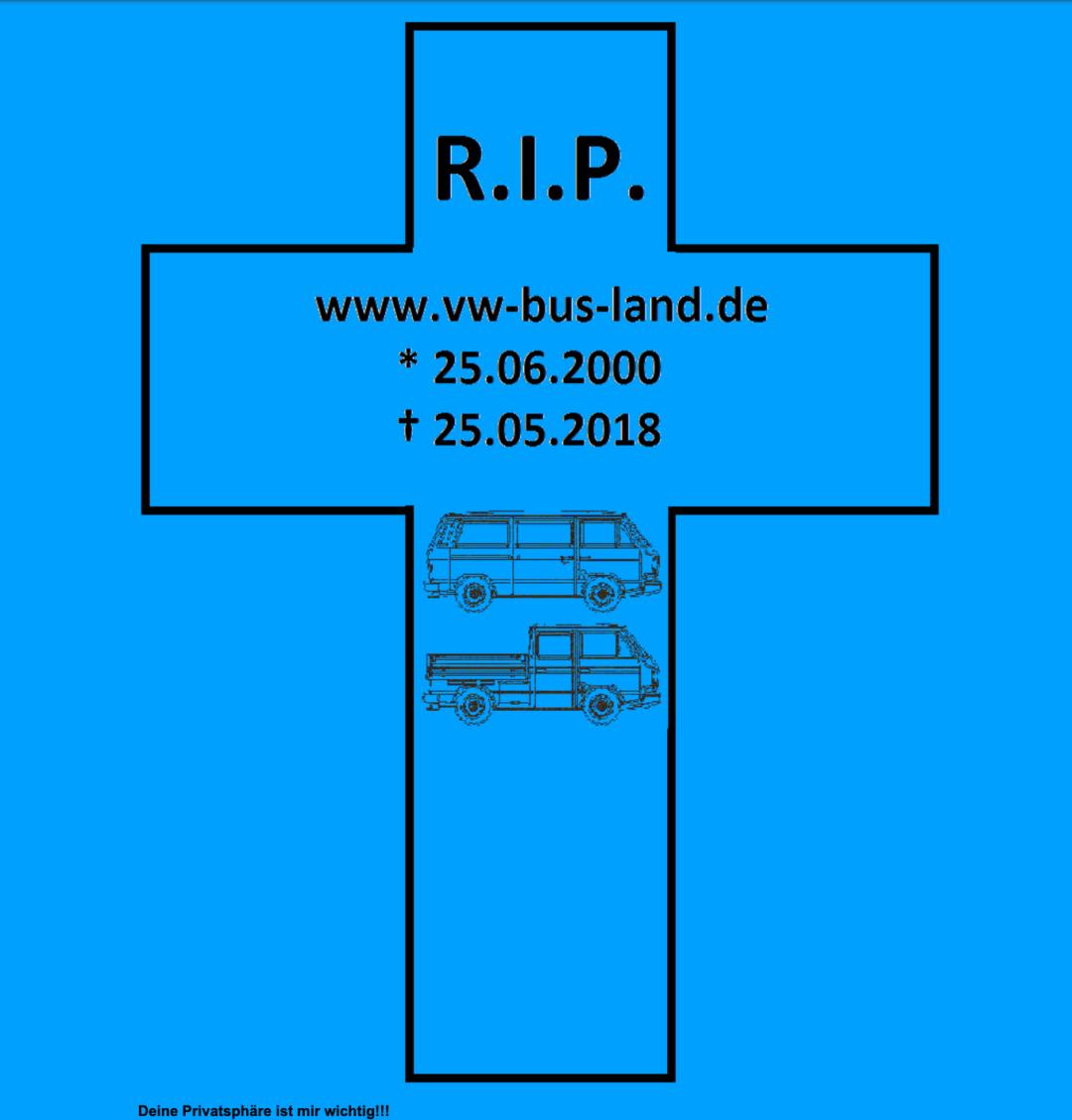 RIP VW-Bus-Land