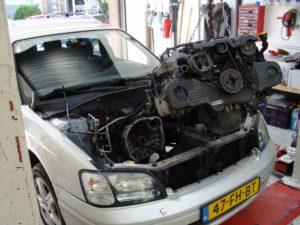 Het slopen van de Subaru