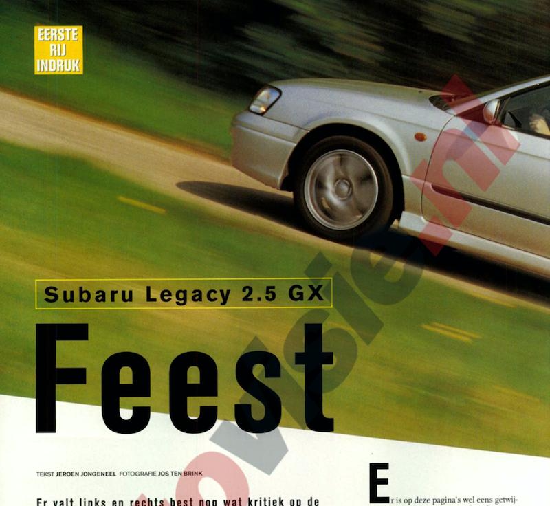 Rij indruk Subaru Legacy 2.5