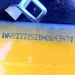 Van de bus, chassisnummer uitzoeken